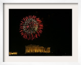 Fireworks Illuminate the Ancient Parthenon on New Years, Athens, Greece, c.2007 Framed Photographic Print by Kostas Tsironis