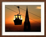 A Couple Sit in a Gondola in Freiburg, Southwestern Germany Framed Photographic Print