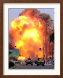 A Car Bomb Explodes Framed Photographic Print