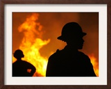Firefighter Jamie Jones Framed Photographic Print