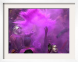 People Painted with Bright Colors Dance During the Festival of Holi on March 7, 2004 Framed Photographic Print by Anupam Nath