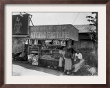 A Sign at a Japanese Roadside Kiosk Framed Photographic Print