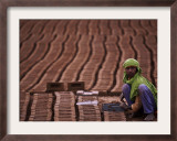 Thuraya Rasul, 9, Works at a Brick Factory on the Outskirts of Islamabad, Pakistan Framed Photographic Print