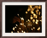 Lighting Candles, St. Sava Temple, Orthodox Church Says Head Patriarch Pavle Died, Belgrade, Serbia Framed Photographic Print