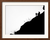 Ventura County Fire Department Personnel Keep a Watch Over the Hills Framed Photographic Print