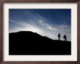 Two Girls Walk Around the Sun Pyramid at Teotihuacan Archeological Site Framed Photographic Print