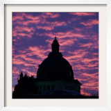 The Dome of the State Capitol in Pierre, South Dakota, at Dawn, October 5, 2006 Framed Photographic Print by Joe Kafka