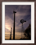 A Row of Wind Turbines Framed Photographic Print by Charlie Riedel
