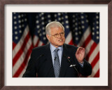 Senator Edward Kennedy Delivers Speech About the Effect of War in Iraq on America's Security Framed Photographic Print