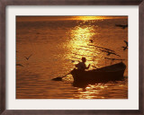 Boat on the River Ganges in Allahabad, India Framed Photographic Print by Rajesh Kumar Singh