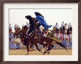 Tunisian Bedouins Demonstrate Their Riding Skills During the 36th Sahara Festival of Douz Framed Photographic Print