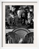 President Harry S. Truman Delivers Inaugural Address from Capitol Portico, January 20, 1949 Framed Photographic Print