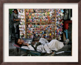 A Casual Labourer Rests, Downtown Kabul, Afghanistan, During the Afghan Weekend, June 2, 2006 Framed Photographic Print by Rodrigo Abd