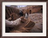 Workers Load the Bricks onto the Backs of Donkeys in Pakistan Framed Photographic Print