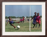 Children from Athletic of Haiti During Daily Training on the Outskirts of Cite Soleil on July 17 Framed Photographic Print