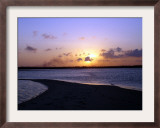 Sun Setting Over Mafia, the Main Island in the Tanzania's Mafia Archipelalgo, October 28, 2005 Framed Photographic Print by Rodrique Ngowi