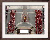 German Cardinal Joseph Ratzinger Conducts a Funeral Mass Framed Photographic Print
