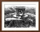 This is an Aerial View of the Arc De Triomphe Framed Photographic Print