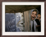 A Student Shouts at a Friend Framed Photographic Print by Saurabh Das
