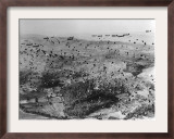 Parachutes are Dropped from C-47 Planes Framed Photographic Print