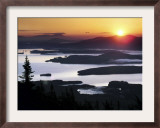 Sunrise over Moosehead Development, Greenville, Maine Framed Photographic Print by Robert F. Bukaty