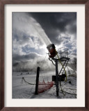Snow is Made at Ski Roundtop in Lewisberry, Pennsylvania, December 8, 2006 Framed Photographic Print by Carolyn Kaster