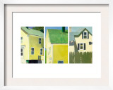 Yellow Houses Triptych Posters