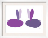 Purple Bunnies Prints by  Avalisa