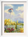 Birdhouse in Flower Garden Posters