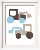 Brown Tractors Poster by  Avalisa