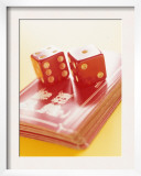 Red Dice and Cards Prints