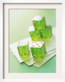 Green Dice and Cards Prints