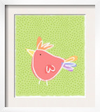 Chicken over Polka Dots Poster