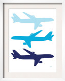 Blue Planes Posters by  Avalisa