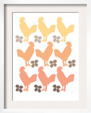 Orange Chicken Family Poster by  Avalisa