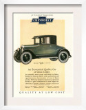 Chevrolet, Magazine Advertisement, USA, 1925 Poster