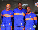 Amar&#39;e Stoudemire, Chauncey Billups, &amp; Carmelo Anthony 2010-11 Press conference Photo