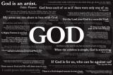 God Quotes Plakát