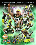 Green Bay Packers Super Bowl XLV Champions PF Gold Composite Photo