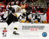 Zdeno Chara 2011 NHL All Star Game Hardest Shot Winner with Overlay Photo