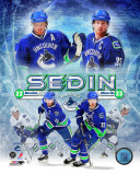 Henrik & Daniel Sedin 2011 Portrait Plus Photo