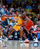 NBA Michael Jordan & Kobe Bryant 1998 Action Foto