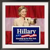 Sen. Hillary Clinton Addresses Supporters at the New York Women for Hillary Luncheon Framed Photographic Print