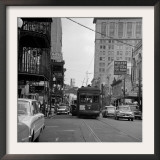 St. Charles Avenue and Poydras Street in New Orleans Framed Photographic Print