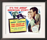The Pride of the Yankees, Teresa Wright, Gary Cooper, Babe Ruth, 1942 Prints