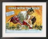 Gone with the Wind, Clark Gable, Vivien Leigh, 1939 Poster