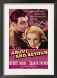 Above and Beyond, from Left, Robert Taylor, Eleanor Parker, 1952 Prints