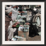 Afghan Money Changers on the Roadside Market Framed Photographic Print