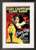 Dancing Lady, Joan Crawford, Clark Gable, 1933 Posters