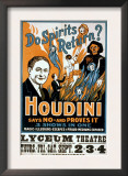 Houdini, Poster Art for Magic Show by Harry Houdini, 1909 Art
